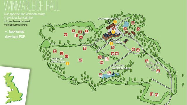 Winmarleigh Hall Interactive Centre Map