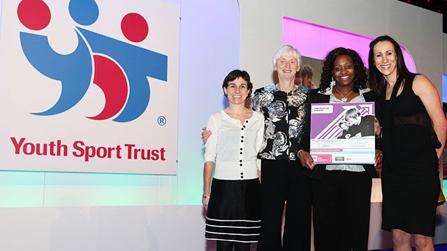 Members of the Youth Sports Trust and PGL at a YST award ceremony