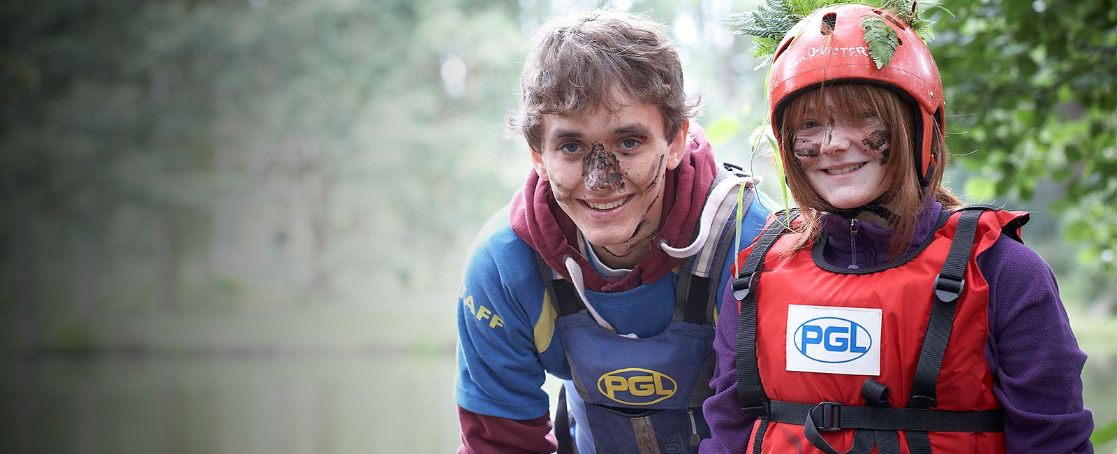PGL Instructor with girl on an adventure holiday
