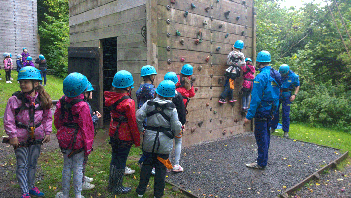 Brownies on the climbing wall