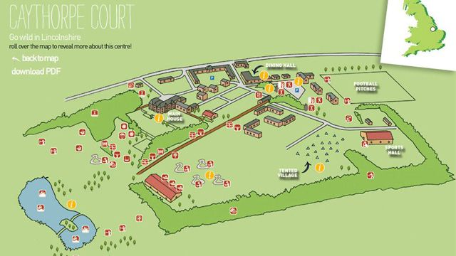 Caythorpe Court Interactive Centre Map