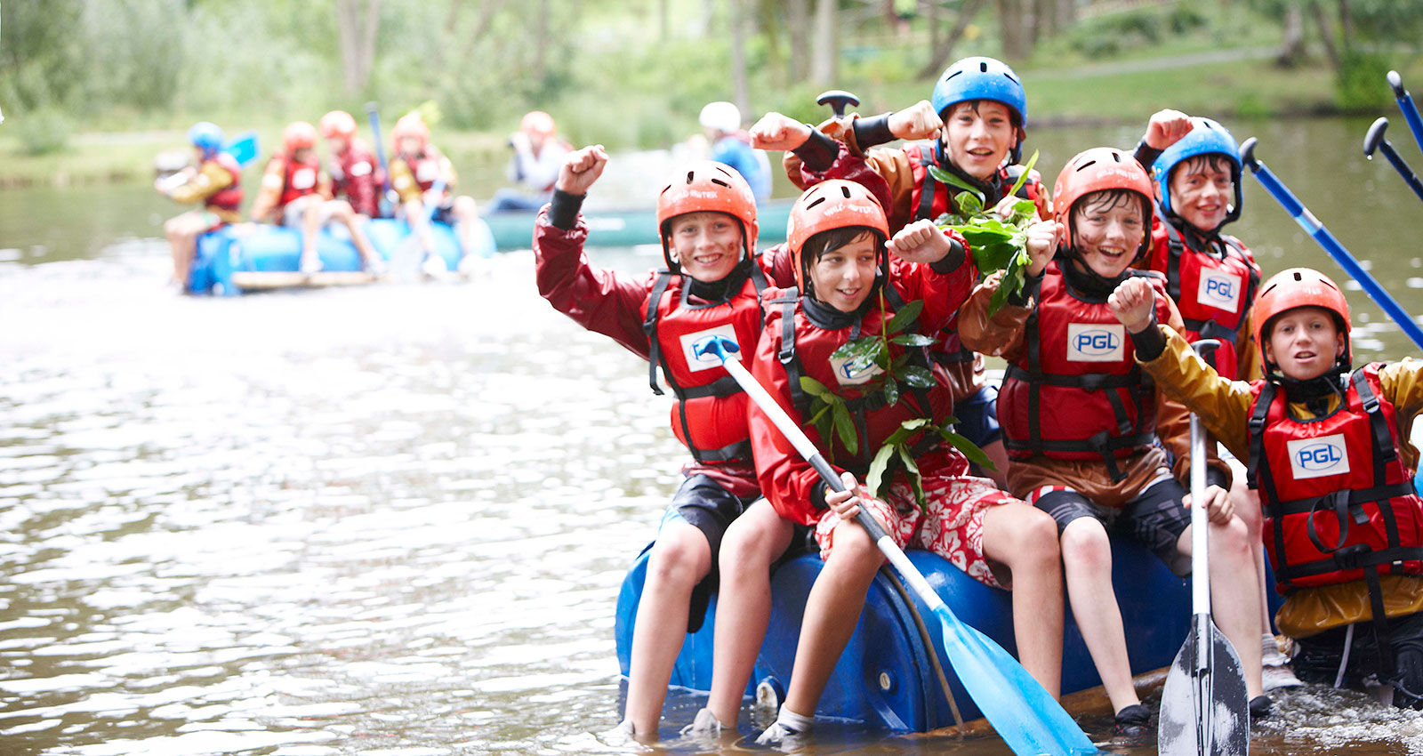 Summer Adventure Weekends - raft building