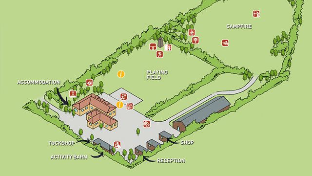 Hillcrest Interactive Centre Map for Cubs and Scouts