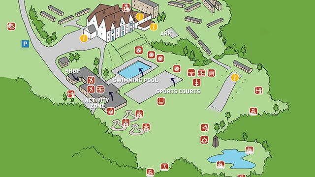Barton Hall Interactive Centre Map for Sports Clubs