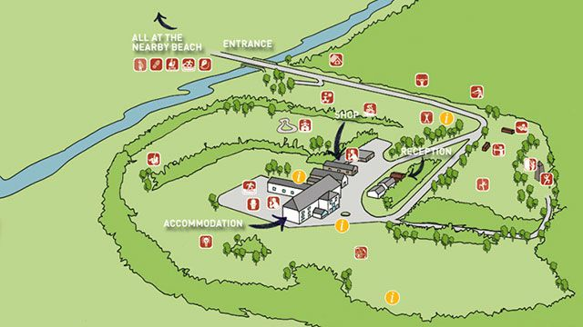 Beam House Interactive Centre Map for Sports Clubs