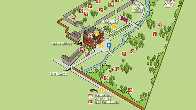 Tregoyd House Interactive Centre Map for Youth Groups