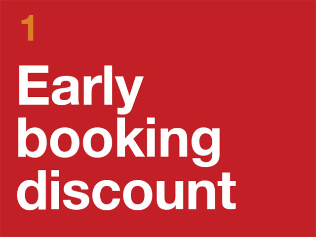 1. Early Booking Discount