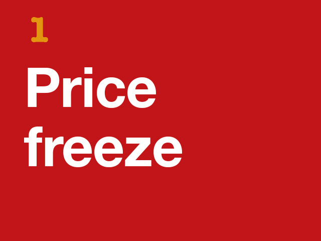 1. Price Freeze