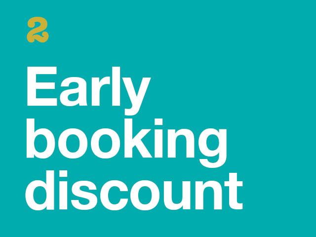 2. Early Booking Discount