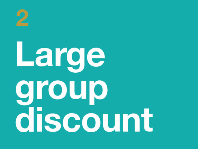 2. Large Group Discount