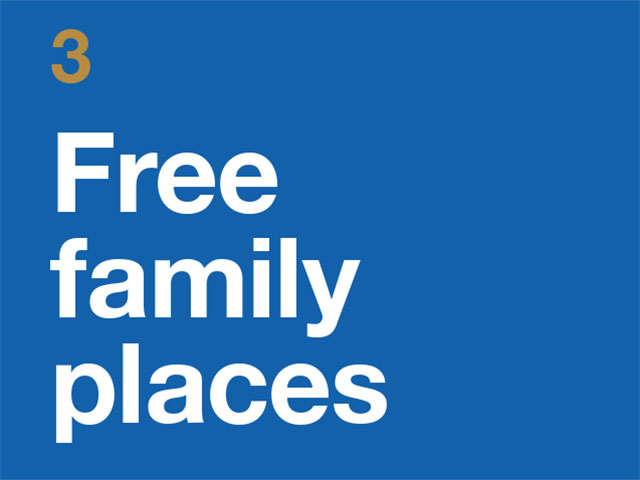 3. Free Family Places