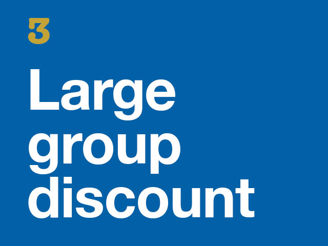 3. Large Group Discount