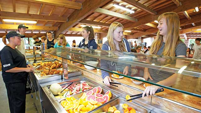 A servery at a PGL centre in the South of France