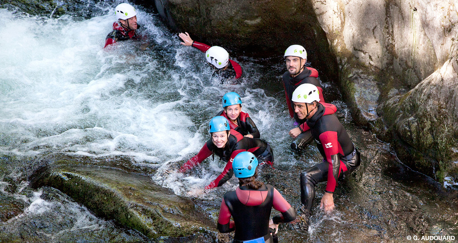Canyoning In The Ardeche Region With Pgl