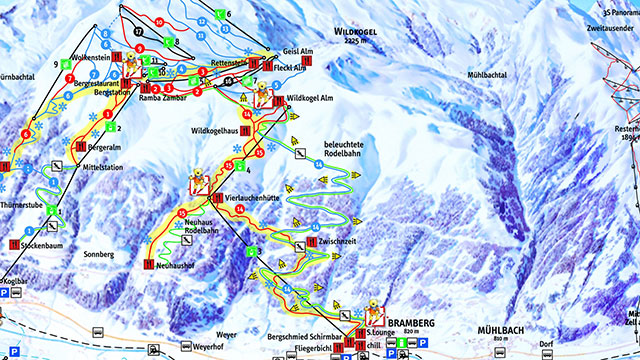 Wildkogel Piste Map