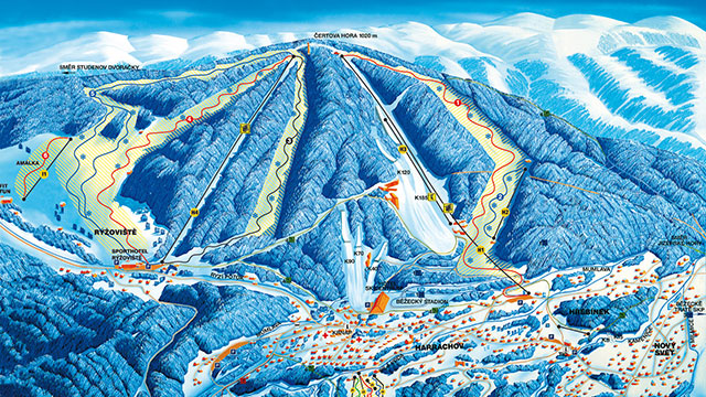 Harrachov Piste Map