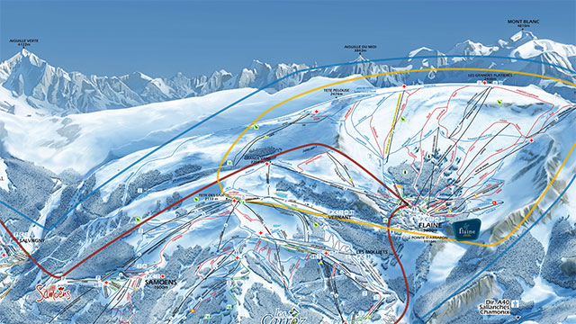 Le Grand Massif Piste Map
