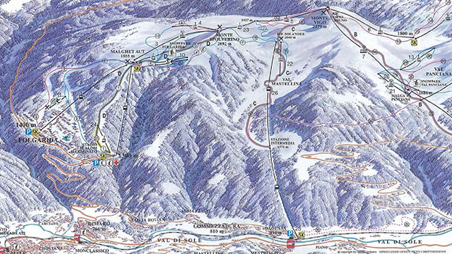 Marilleva-Folgarida Piste Map