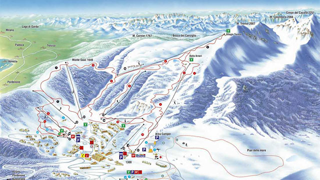 Piancavallo Piste Map