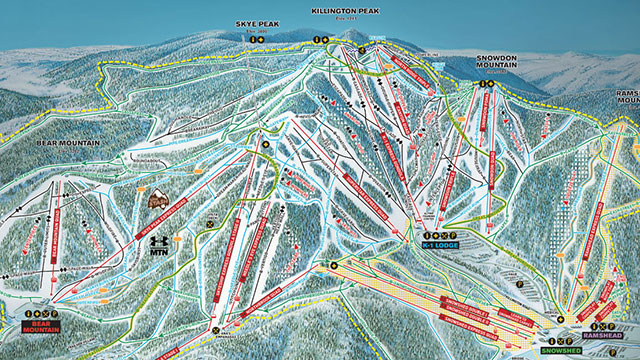 Killington Piste Map