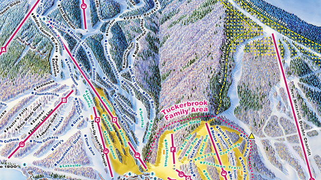 Cannon Piste Map